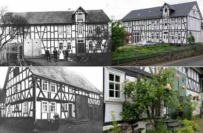 unten, Vorsteher'sch Haus früher und heute