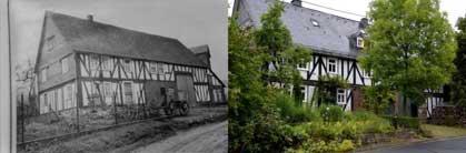 """""""Schreck's Haus"""" früher und heute"""